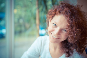 Woman smiling after counselling session
